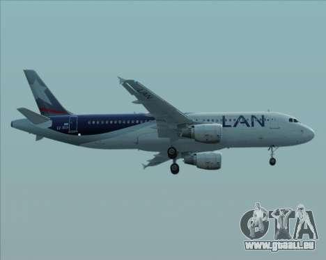 Airbus A320-200 LAN Argentina für GTA San Andreas zurück linke Ansicht