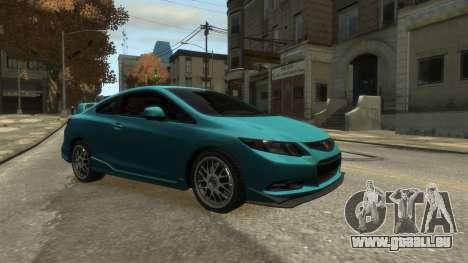 Honda Civic Si 2013 v1.0 pour GTA 4 Vue arrière de la gauche