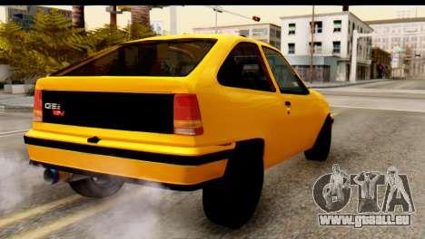 Opel Kadett GSI Drag 2015 pour GTA San Andreas laissé vue