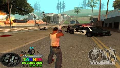 C-HUD Tasher pour GTA San Andreas troisième écran