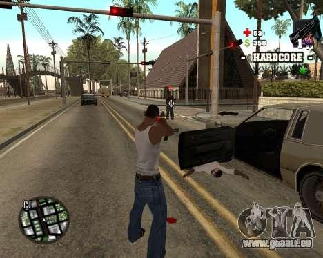 C-HUD Hardcore pour GTA San Andreas deuxième écran