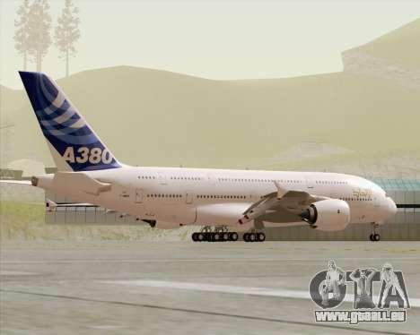 Airbus A380-800 F-WWDD Etihad Titles pour GTA San Andreas vue de dessus