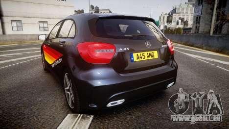 Mersedes-Benz A45 AMG PJs1 pour GTA 4 Vue arrière de la gauche