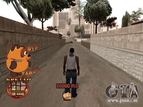 C-HUD PYX TAWER GHETTO pour GTA San Andreas quatrième écran