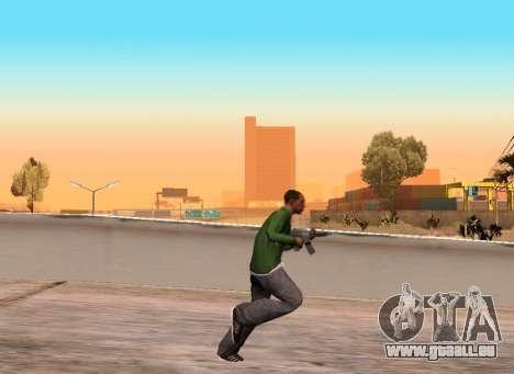 Réaliste de la démarche pour GTA San Andreas deuxième écran
