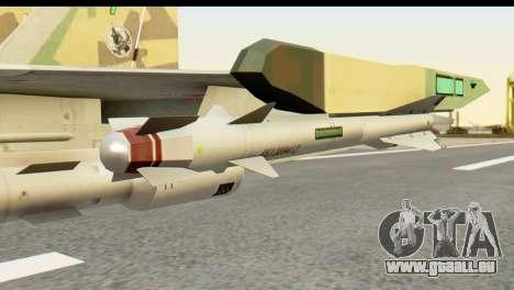 SU-35 Flanker-E ACAH pour GTA San Andreas vue de droite