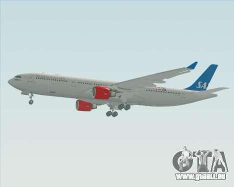 Airbus A330-300 Scandinavian Airlines pour GTA San Andreas sur la vue arrière gauche