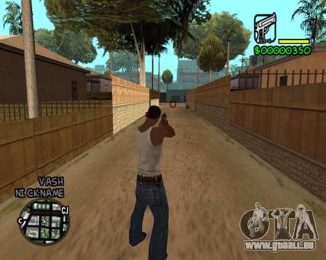 C-HUD by Tawerhudov für GTA San Andreas zweiten Screenshot