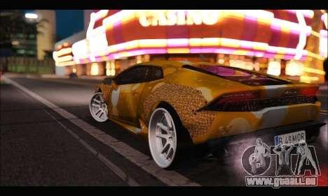 Lamborghini Huracan LB Solar für GTA San Andreas zurück linke Ansicht