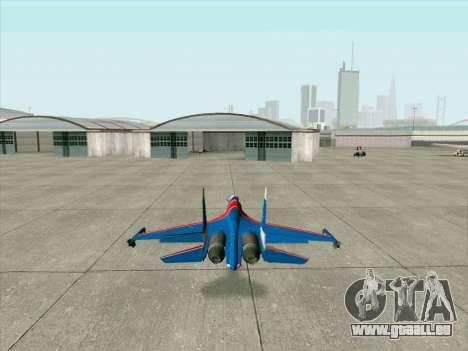 SU-30 MK 2 pour GTA San Andreas vue de droite