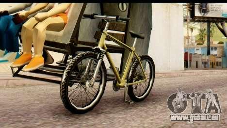 Pedicab Philippines pour GTA San Andreas sur la vue arrière gauche