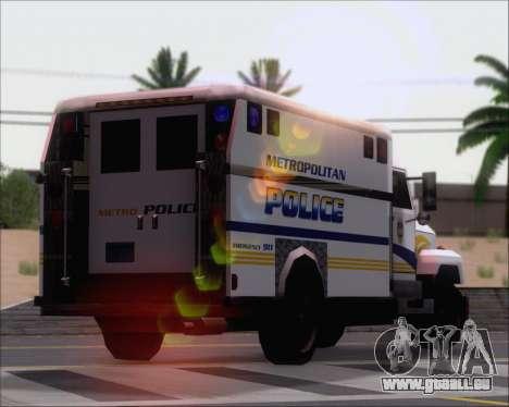 Enforcer Metropolitan Police für GTA San Andreas Seitenansicht