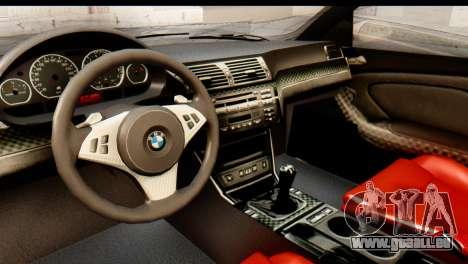BMW M3 E46 GTR NFS MW für GTA San Andreas Rückansicht