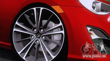 Toyota GT86 (ZN6) 2012 pour GTA San Andreas vue arrière