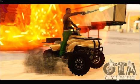 ATV Army Edition v.3 pour GTA San Andreas vue de côté