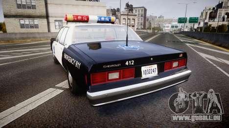Chevrolet Impala 1985 LCPD [ELS] pour GTA 4 Vue arrière de la gauche