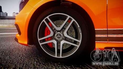 Mersedes-Benz A45 AMG PJs4 für GTA 4 Rückansicht