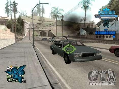 C-HUD Blek-Pro Diamond pour GTA San Andreas quatrième écran