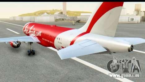 Airbus A320-200 Indonesia AirAsia pour GTA San Andreas laissé vue