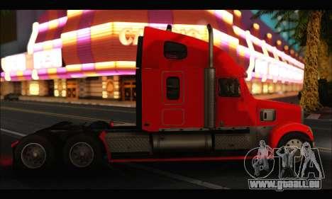 Freightliner Coronado v.2 pour GTA San Andreas sur la vue arrière gauche