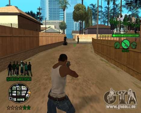C-HUD Grove pour GTA San Andreas troisième écran