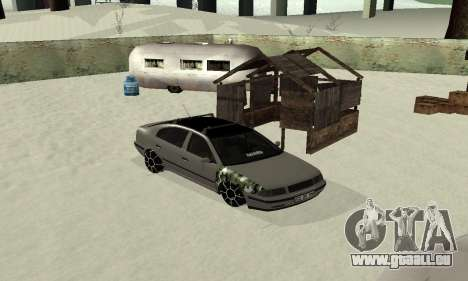 Skoda Octavia Winter Mode für GTA San Andreas rechten Ansicht