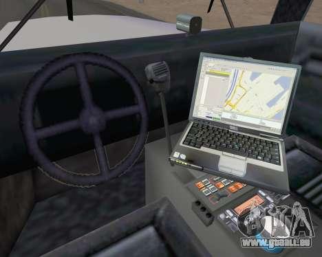 Enforcer Metropolitan Police für GTA San Andreas Rückansicht