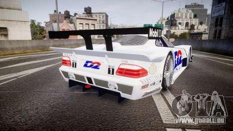 Mercedes-Benz CLK LM 1998 PJ1 pour GTA 4 Vue arrière de la gauche