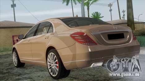 Mercedes-Benz S350 W222 2014 pour GTA San Andreas laissé vue
