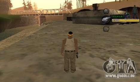 C-HUD TaweR Green pour GTA San Andreas troisième écran