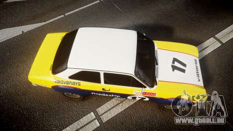Ford Escort RS1600 PJ17 pour GTA 4 est un droit