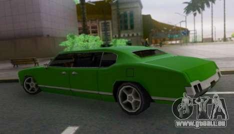 Sabre Limousine pour GTA San Andreas laissé vue