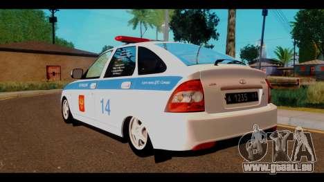 VAZ 2172 Police pour GTA San Andreas laissé vue