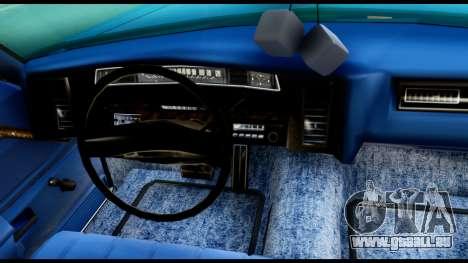 Chevy Caprice 1975 Beta v3 pour GTA San Andreas vue arrière
