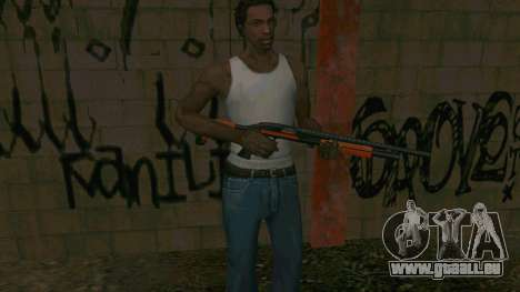 Orange Shotgun für GTA San Andreas fünften Screenshot