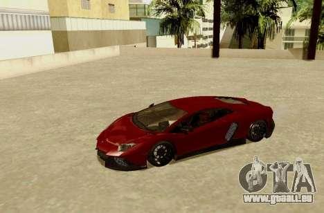 Lamborghini Aventador pour GTA San Andreas laissé vue