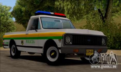 Chevrolet C10 1972 Policia pour GTA San Andreas
