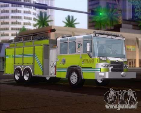 Pierce Quantum Miami Dade FD Tanker 6 pour GTA San Andreas