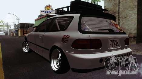 Honda Civic EG6 für GTA San Andreas zurück linke Ansicht