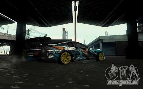 Toyota Supra Gorilla Energy GT-Shop für GTA San Andreas rechten Ansicht