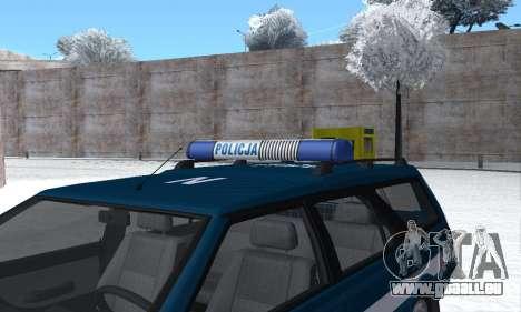 Daewoo-FSO Polonez Kombi 1.6 GSI Police 2000 pour GTA San Andreas moteur