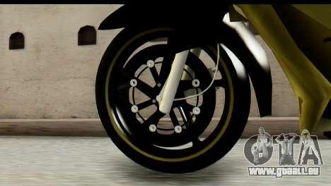 Yamaha F1ZR Stock für GTA San Andreas zurück linke Ansicht