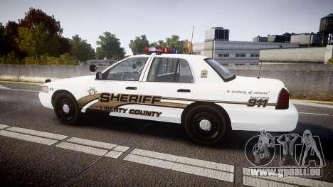Ford Crown Victoria LCSO [ELS] Edge für GTA 4 linke Ansicht