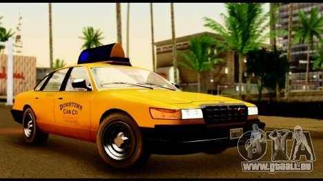GTA 4 Vapid Stanier Downtown Cab für GTA San Andreas linke Ansicht