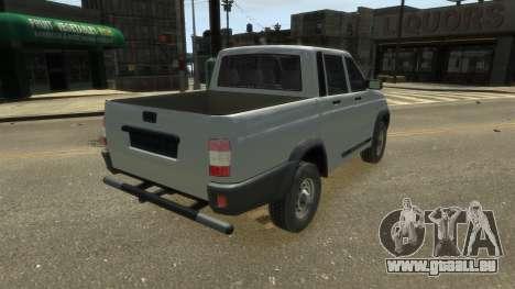 UAZ Patriot Pickup v.2.0 pour GTA 4 est une gauche