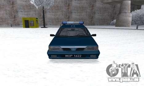 Daewoo-FSO Polonez Kombi 1.6 GSI Police 2000 pour GTA San Andreas vue arrière