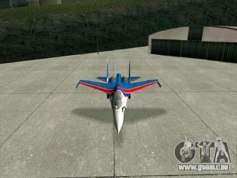 SU-30 MK 2 für GTA San Andreas zurück linke Ansicht