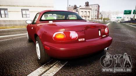 Mazda MX-5 Miata NA 1994 [EPM] pour GTA 4 Vue arrière de la gauche