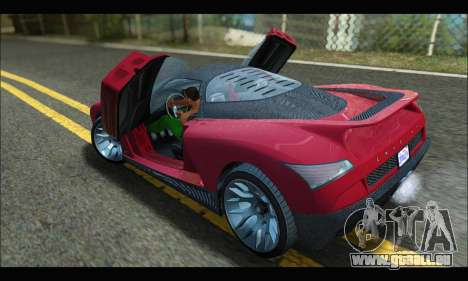 Grotti Cheetah v3 (GTA V) (SA Mobile) pour GTA San Andreas sur la vue arrière gauche