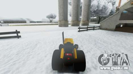 Tractor Kor4 für GTA San Andreas Rückansicht